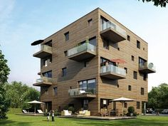 Five Storey All Wood, climate neutral apartment building made without any chemicals or sealants