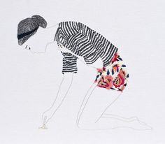jazmin berakha. embroidered art