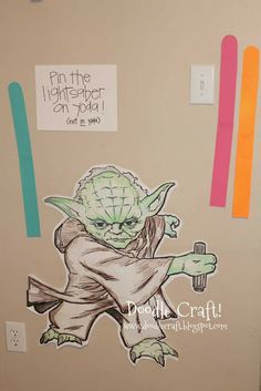 Doodle Craft Pin the Lightsaber on the Yoda (or Jedi)...: Star Wars Birthday Party!