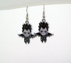 www.etsy.com/shop/eternalelfcreations  Death Note earrings geek anime manga by Eternalelfcreations, $8.00