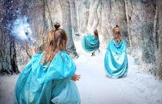 Umhang im Elsa-Stil: So einfach nähst du ihn selbst! | familienfuchs 🦊 Anna Und Elsa, Rebecca Minkoff, Hat Patterns To Sew, Kimono Top, Photos, Costumes, Sewing, Women, Boards