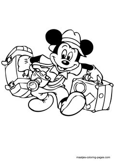 More Mickey Mouse Valentines Day Coloring Pages On