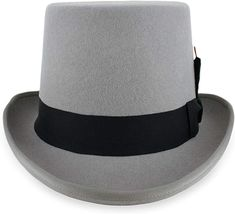 75f8339c5459c Belfry Topper 100% Wool Satin Lined Men s Top Hat in Black Available in 4  Sizes Large Black at Amazon Men s Clothing store  Fedoras