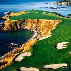 Hole #8, Pebble Beach Golf Links, 428 yard Par 4, Handicap #6, Pacific Ocean, Monterey Peninsula, CA