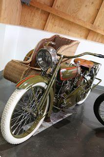OldMotoDude: 1917 Harley-Davidson V-Twin with Sidecar on display at LeMay - America's Car Museum -- Tacoma, Wa.