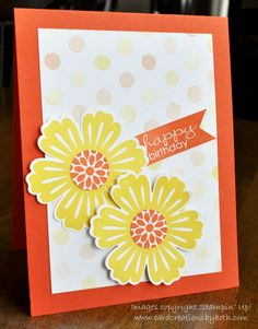 Birthday Card; Mixed Bunch; Stampin' Up!; Card Creations by Beth