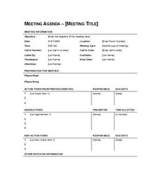 conference agenda templates