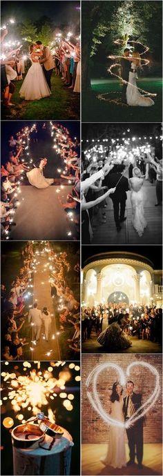 20 Magical Wedding Sparkler Send-Off Ideas for Your Wedding #weddings #weddingideas #weddingphotography