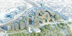 Visualisierungen Projektgebiet - Hauptbahnhof Wien. Im Quartier Belvedere entsteht in den nächsten Jahren ein neuer Stadtteil. Das Sino Spa befindet sich zentral beim Quartier Belvedere. Spa, City Photo
