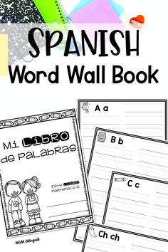 """Students will: -Write and copy word wall words into their book. -Use """"Mi libro de palabras"""" as a tool during writing time. -Use """"Mi libro de palabras"""" to practice reading the words during independent reading time. #palabrasdeusofrecuente #palabrasdealtafrecuencia #hfwspanish #highfrequencywordsinspanish #wordwall #murodepalabras #spanishwordwall #bilingualresources Spanish Word Wall, Spanish Words, Independent Reading, High Frequency Words, Language Activities, Reading Time, Foreign Languages, Literacy, Teacher"""