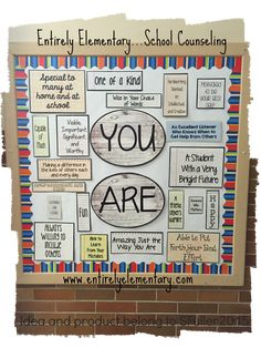 Entirely Elementary...School Counseling: YOU ARE Bulletin Board -- Follow-Up