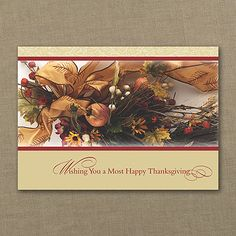 Thanksgiving Wishes Card - personalized business Thanksgiving greeting cards bulk - discount at check out. http://partyblockinvitations.occasions-sa.com/Holiday/Thanksgiving-Cards/YM-YM16420FC-Thanksgiving-Wishes-Card.pro