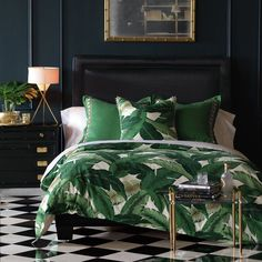 While glittering living rooms and blinding entryways are often the rule, Luxury Master Bedroom interior design is more restrained. Bedroom Inspo, Home Bedroom, Bedroom Decor, Bedroom Ideas, Master Bedroom, Bedroom Images, Bedroom Wall, Wall Decor, Green Rooms