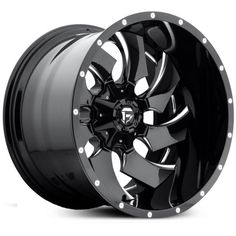Fuel D574 Cleaver Deep Lip  Wheels Gloss Black Milled