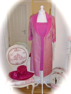 Veni Infantino Mother of Bride, 16, Fuchsia & Designer Hat, RRP £1100