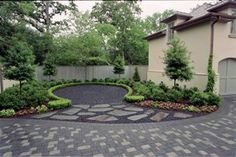 There are many readily available sources of garden landscaping ideas.  Literally thousands of pictures can be found in a single online image search.  You can also look through home and garden magazines, which contain detailed descriptions of materials and methods used to build the forms