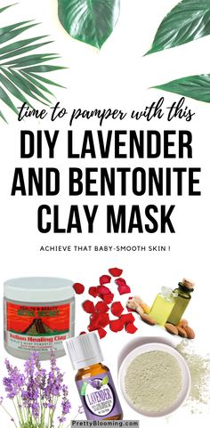 If you've never tried bentonite clay before, you are missing out! Whip up a batch of this Lavender Bentonite Clay Face Mask and give your skin some love. Facial For Dry Skin, Facial Skin Care, Bentonite Clay Face Mask, Small Glass Jars, Clay Faces, Skin Care Remedies, Beauty Recipe, Diy Skin Care, At Least