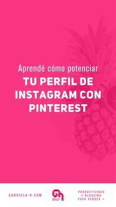 Aprende como usar Instagram con Pinterest para impulsar tu visibilidad. #instagramtips #igmtk #instagammarketing #pinterestespañol #gabrielah