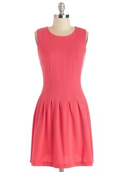 Freelance Writer Dress in Punch. Youve got bright ideas - and they show in this simple stunner! #pink #modcloth