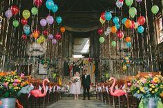 Colourful Tropicana Wedding at Asylum Chapel Caroline Gardens London Wedding Themes, Our Wedding, Wedding Venues, Wedding Music, Wedding Shot, Wedding Reception, Cool Wedding Ideas, Wedding Pictures, Circus Wedding