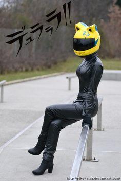 Character: Celty Sturluson. Anime: 無頭騎士異聞錄Durarara (Celty, Headless Rider DRRR). Cosplayer: Tiny Cosplay-RikuRisa (Genre: Male). From: Demark. Photo: Kelevar 2012.