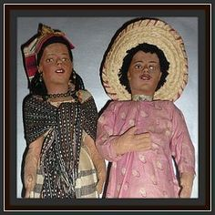 "~ MEXICO~  Mexican Cloth Dolls-17"" Tall,Man,Woman,Baby -1930's-40's http://www.dollshopsunited.com/stores/dolllighted/items/1279991/SOLD-Mexican-Cloth-Dolls-17-TallManWomanBaby-1930s-40s #dollshopsunited"