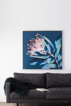 Anya Brock Protea paintings and prints as featured on The Block.