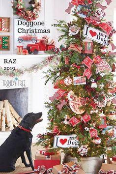raz christmas tree, raz dog tree, raz pet tree, love my dog tree Country Christmas Trees, Christmas Tree With Snow, Christmas Tree Themes, Christmas Dog, Holiday Decorations, Christmas 2019, Vintage Christmas, Xmas Trees, Scandinavian Christmas