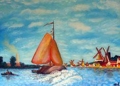 Exemple picturi in pastel uleios - marca Raphael - Curs Pictura Summer, Painting, Color, Art, Colour, Summer Time, Painting Art, Paintings, Kunst