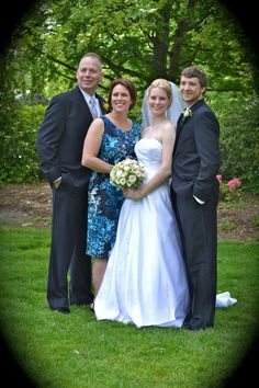 Bride's parents and the happy couple!