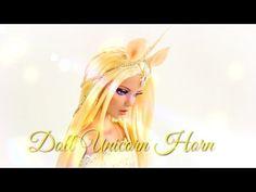 DIY - How to Make: Doll Costume: Unicorn Horn - FAIRY TALE - Handmade - Doll - Crafts - YouTube