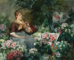 The Flower Seller - Louis Marie de Schryver