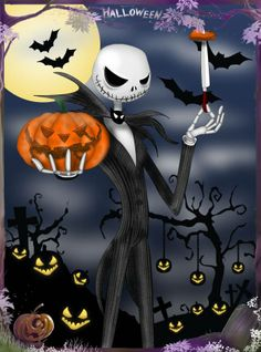 """My entry for 's Art Halloween. Jack holding a pumpkin isn't exactly a original picture, but I put some. new things. Besides, I looooooveeeeee """"The Nightmare Before Christmas"""". Halloween Jack, Halloween Christmas, Christmas Art, Happy Halloween, Halloween Pumpkins, Xmas, Nightmare Before Christmas Toys, Sally Skellington, Cheshire Cat Alice In Wonderland"""