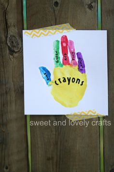 sweet and lovely crafts: handprint crayon box!