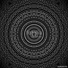 Hintergrund Mandala, schwarz und weiß, Meditation, Hypnose, Esoterik, Mystik, Hintergrundbild, abstrakt, modern, dekorativ, Grafik, Ornament, Kunst, Muster, Strahlen, spiritual, Spitze, Struktur