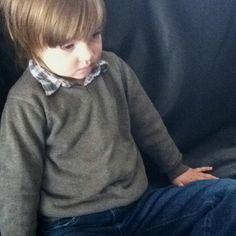 Boy style. More layers for boys.  Shirt: Zara, Sweater: Zara, Jeans: Gap