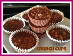 Chocolate Crunch Cups Recipe. (PALEO) Consider these a much healthier version of a Nestle Crunch bar mixed with a Reeces peanut butter cup.  By www.aunaturalenutrition.com