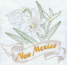 New Mexico - Yucca Flower (Redwork)
