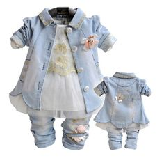 Special price Anlencool 2017 New Roupas Meninos Free Shipping Baby Girls Dress Suit High Quality Spring Three Piece Set Clothing Girl Clothes just only $32.29 with free shipping worldwide  #babygirlsclothing Plese click on picture to see our special price for you