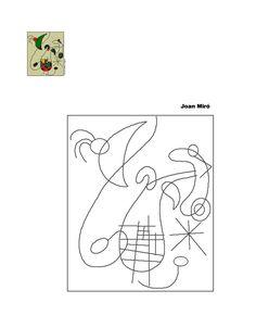 miro11 Joan Miro Paintings, Montessori Art, Sculpture Lessons, Art Base, First Art, Art Classroom, Colouring Pages, Geometric Art, Famous Artists