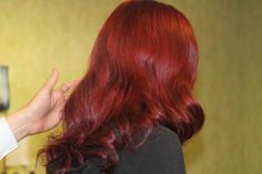 ChromaSilk Creme Hair Color + Veronica Lake Waves   www.pravana.com Vibrant Red Hair, Bombshell Hair, Veronica Lake, Vixen, Bombshells, Pin Up, Hair Color, Waves, Long Hair Styles