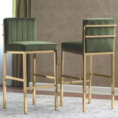 Shop Silver Orchid Korff Counter Height Stools In Charcoal (Set of (As Is Item) - Overstock - 30766509 Gold Bar Stools, Dining Stools, Modern Bar Stools, Dining Room Bar, Green Bar Stools, Bar Furniture, Furniture Deals, Interiores Art Deco, Stool Chair