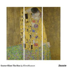 Shop Kiss Gustav Klimt Triptych created by argentarts. Triptych Wall Art, Wood Wall Art, Wall Art Decor, Klimt Art, Gustav Klimt, Klimt Prints, Art For Kids, Wall Decals, Create Yourself
