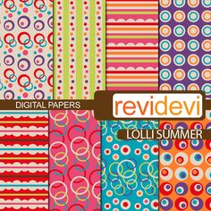 Lolli Summer Papers - Digital Papers & Backgrounds - Mygrafico.com