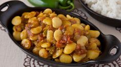 Slow Cooker Pink Beans :: Recipes :: Camellia Brand - This recipe is for Slow Cooker Pink Beans and the picture is of Curried Lima Beans & I wanted the r - Lima Bean Recipes, Beans Recipes, Curry Recipes, Ham Recipes, Chili Recipes, Rice Recipes, Cooker Recipes, Crockpot Recipes, Soup Recipes
