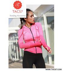 Zipper hooded Women's Yoga Shirts Long Sleeve Yoga Top Sportswear Quic – Trending Accessories