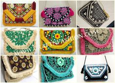 Crafts Of Gujarat is a Crafts Store in Ahmedabad offering Indian Handmade Handicraft Products, Vintage kantha Collection, intage Tribal Indian Costume jewelry. Kutch Work, Fringe Fashion, Hand Work Embroidery, Designer Clutch, Ibiza Fashion, Boho Bags, Jute Bags, Purse Styles, Clutch Purse