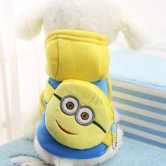Minions, Dog Hoodie, Dog Shirt, Sweatshirt, Pullover, Cat Dog Costume, Pocket Dog, Coat Outfit, Super Cute Dogs