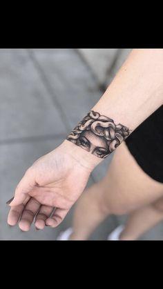 How do you like this decision - Tattoo, Tattoo ideas, Tattoo shops, Tattoo actor, Tattoo art Cuff Tattoo, Tattoo Band, Armband Tattoo, Tattoo Bracelet, Piercing Tattoo, Nose Piercings, Medusa Tattoo Design, Dope Tattoos, Body Art Tattoos
