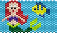 Ariel Little Mermaid Pony Bead Patterns | Characters Kandi Patterns for Kandi Cuffs
